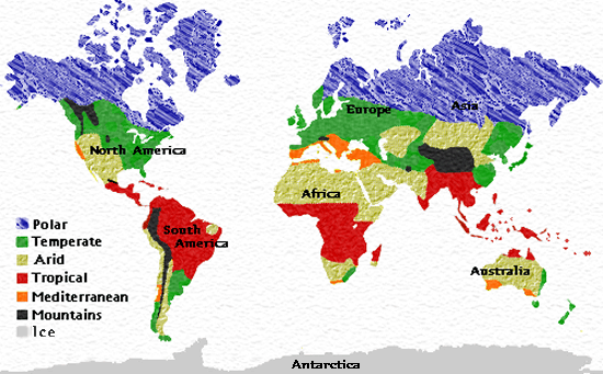 Climatic Regions Map