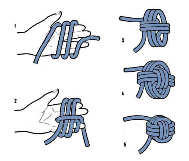 How to tie the monkey's fist knot